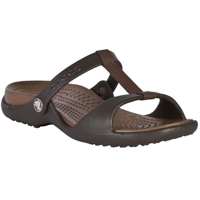 b4e647a4fc4a7 Slides CROCS - Cleo III Women 11216 Brown - Beach sandals - Mules ...