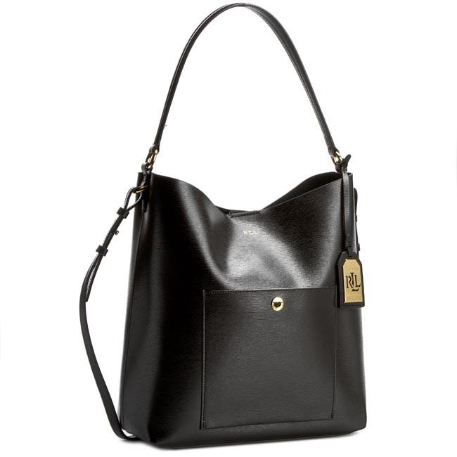 Handbag LAUREN RALPH LAUREN Pocket Hoba N91 L7197 AL268 A0001 Black
