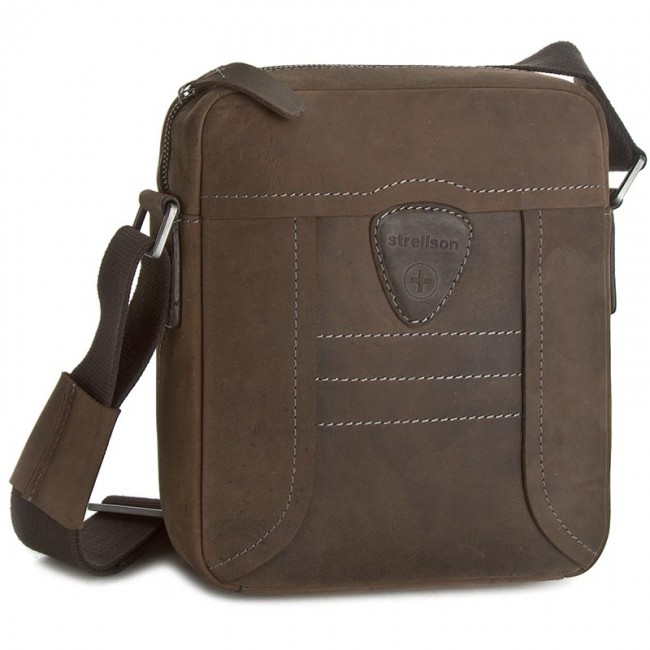 14b664cda9e56 Messenger Bag STRELLSON - Hunter 4010000187 Dark Brown 702 - Men s ...