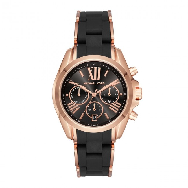 Wristwatch MICHAEL KORS - Bradshaw MK6580 Black Rose Gold - Women s ... dd743c4c39