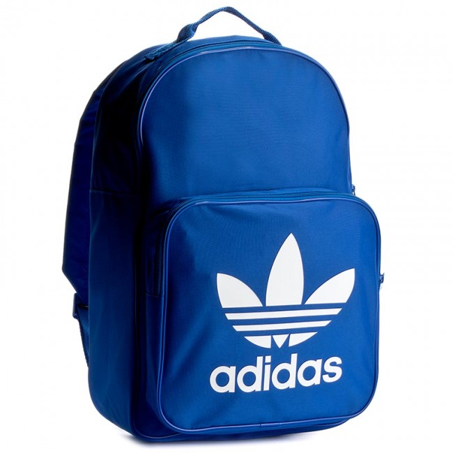 Backpack adidas - BP Clas Trefoil BK6722 Blue - Sports bags and ... 6ad667d1f2fe6