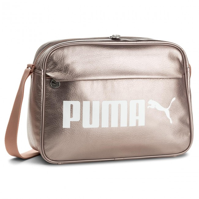 Bag PUMA - Campus Reporter 075005 Peach Beige-Metallic 03 - Women s ... bae219234daa3