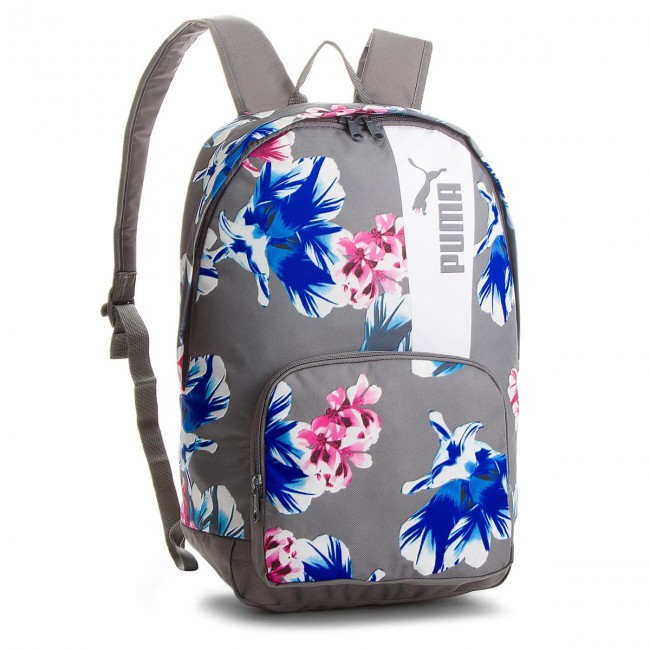 7ab18538f7a8a Backpack PUMA. Core Style Backpack 075169 06 Steel Gray Flower Graphic