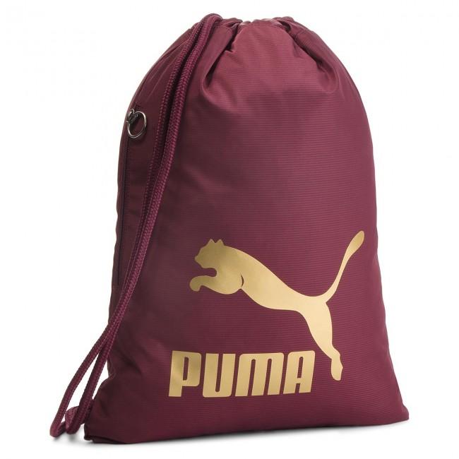 1f6e9820a1 Backpack PUMA - Originals Gym Sack 074812 11 Fig Gold - Sports bags ...
