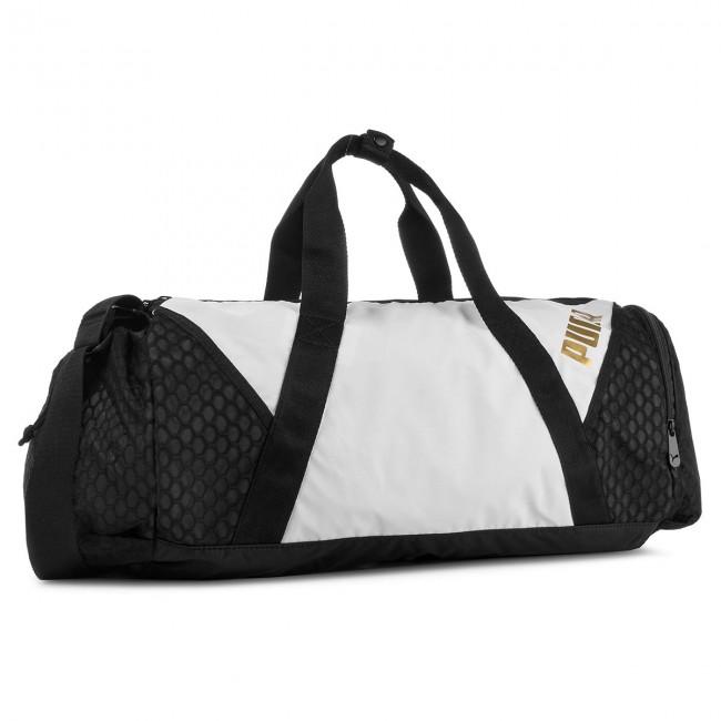 Bag PUMA - Ambition Barrel Bag 075460 Puma White Puma Black 01 ... e56392822eb94