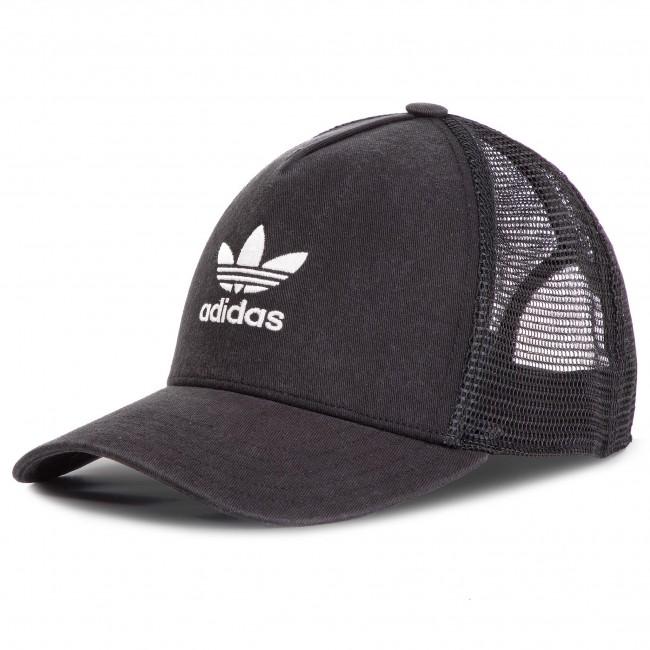 8be36483257 Cap adidas - Trefoil Trucker DV0233 Black White - Women s - Hats ...