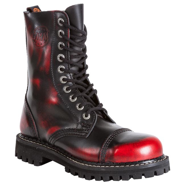 Combat Boots KMM - 100 Red Black - Combat boots - High boots and ...