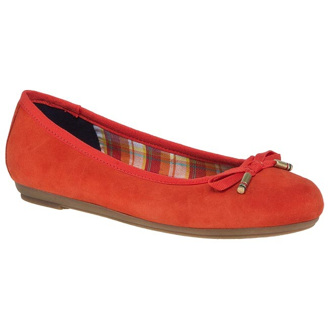 fc333c12af909 Flats TOMMY HILFIGER - FW56815247 Red Orange 646 - Ballerina shoes ...
