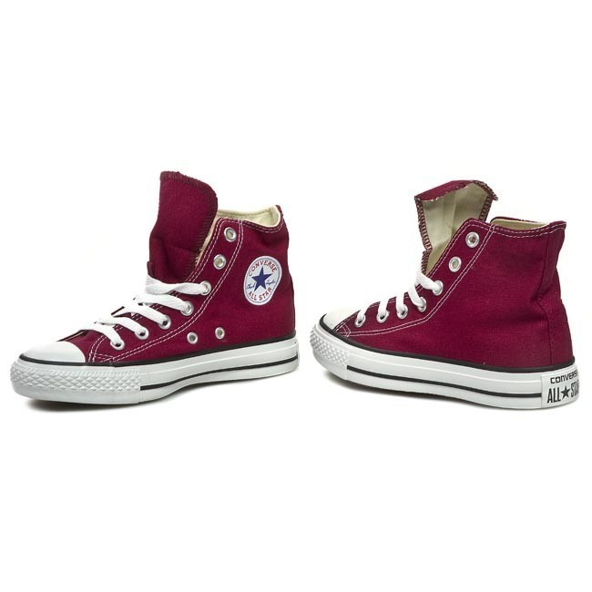 converse in pelle bordeaux