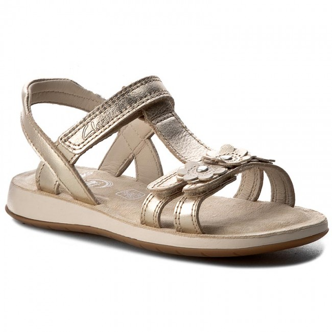 2d55bf2ec7c Sandals CLARKS - Sea Sally Inf 261237016 Gold Leather - Sandals ...