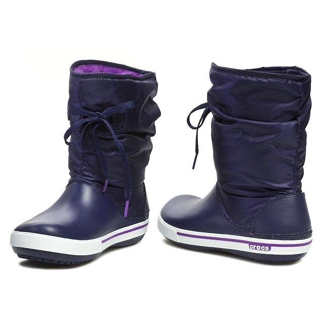 Snow Boots CROCS - Crocband II.5 Lace Boot W 14545 Nautical Navy Neon d2153c07712