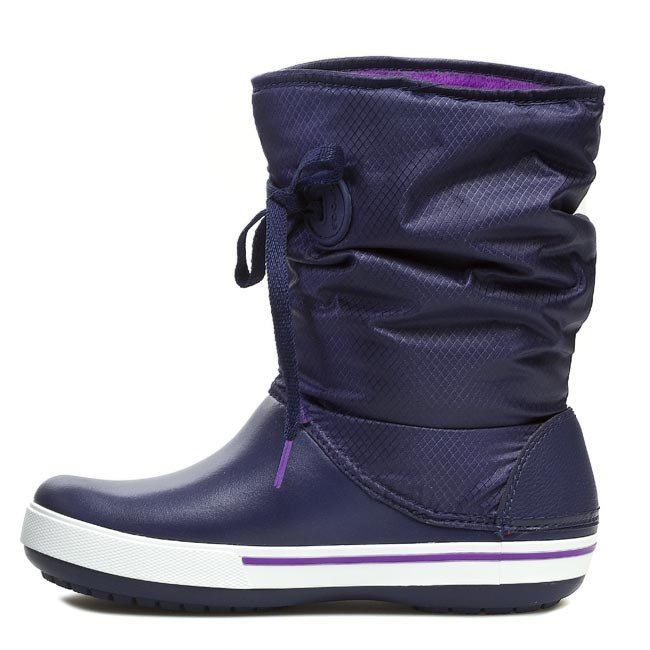 Snow Boots CROCS - Crocband II.5 Lace Boot W 14545 Nautical Navy Neon Purple  - Winter boots - High boots and others - Women s shoes - www.efootwear.eu d34f7b8521f