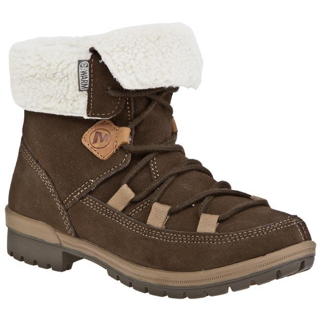 J48688 Earth MERRELL Emery Lace boots Hiking Boots Trekker Dark cSR34Ajq5L