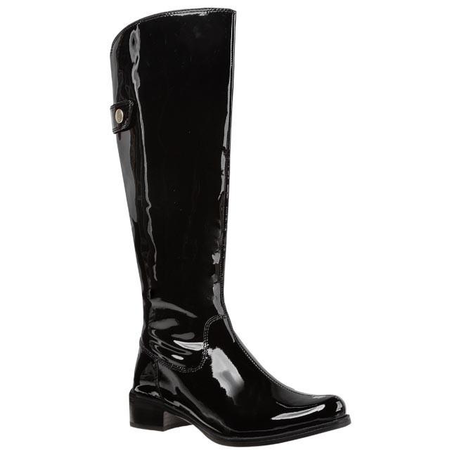 9d86b577b5a Knee High Boots CLARKS - Kildale Drama 20356728 4 Black Pat ...