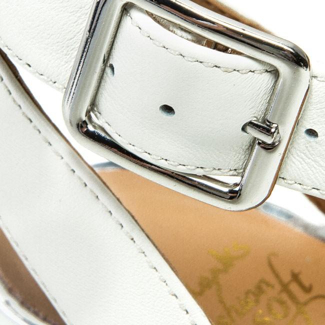 63953888fb50 Sandals CLARKS - Sharna Balcony 203545184 White Combi Lea - Elegant ...