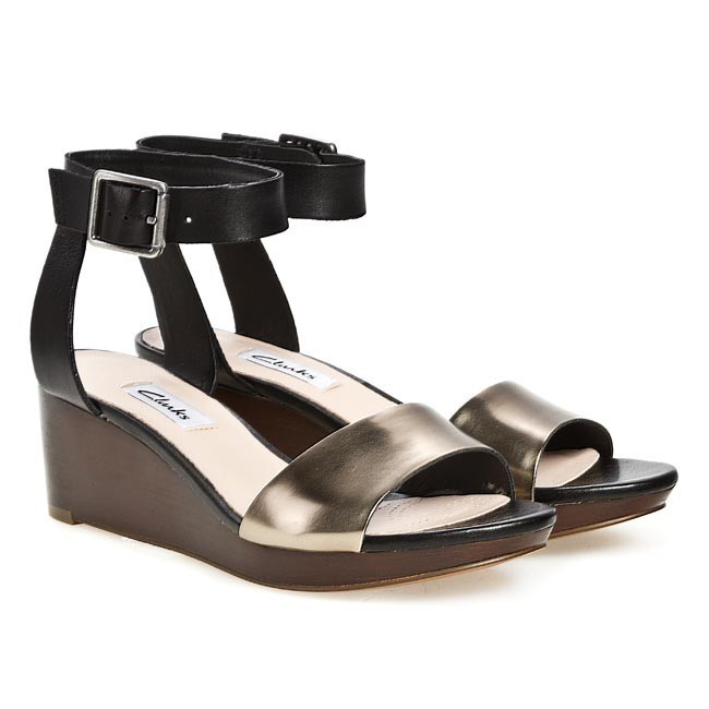 4dae2b1bc Sandals CLARKS - Ornate Jewel 203576274 Black Combi Leather - Casual  sandals - Sandals - Mules and sandals - Women s shoes - www.efootwear.eu
