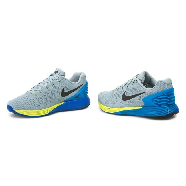 the best attitude f512c 4f037 Shoes NIKE - Lunarglide 6 654433 005 Light Magnet Grey  Black  Photo Blue