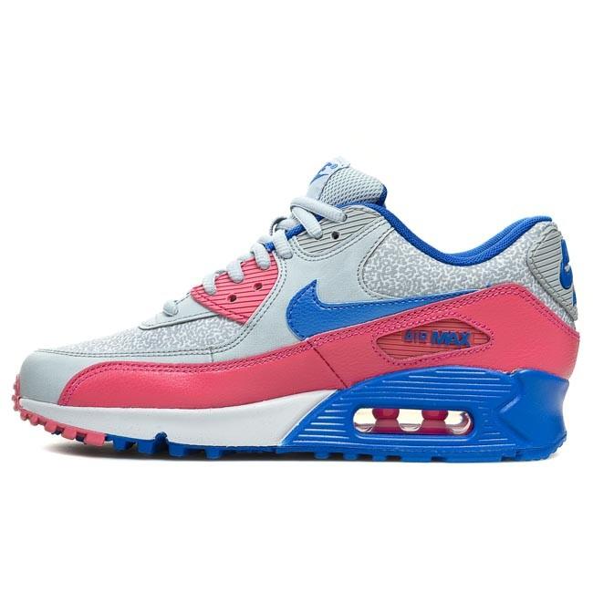 Shoes NIKE WMNS Air Max 90 325213 505 Light Magnet Hyper Cobalt Hyper Pink