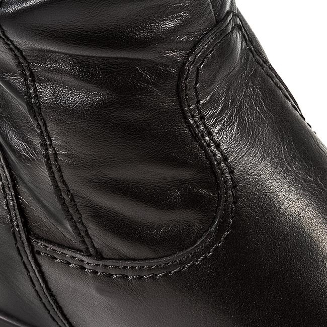 Black Leather Knee 23 25397 003 1 TAMARIS High Jackboots Boots anYqwx7Y0Z