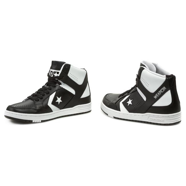 ff770983202 Sneakers CONVERSE - Weapon Mid 144545C Black White - Sneakers - Low ...