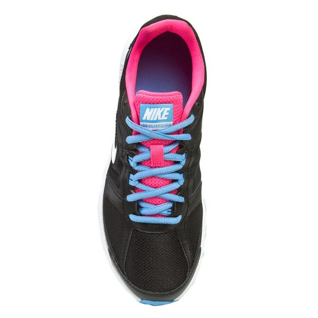 Shoes NIKE WMNS AIR RELENTLESS 3 MSL 616597 011 Black White Hyper Pink University Blue
