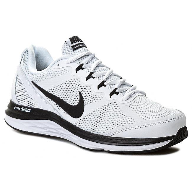 Men's NIKE DUAL FUSION RUN Training Running Shoes Sneakers  Black/ white