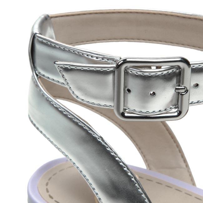 ec9e135a231 Sandals CLARKS - Sharna Balcony 203581004 White Silver - Casual ...
