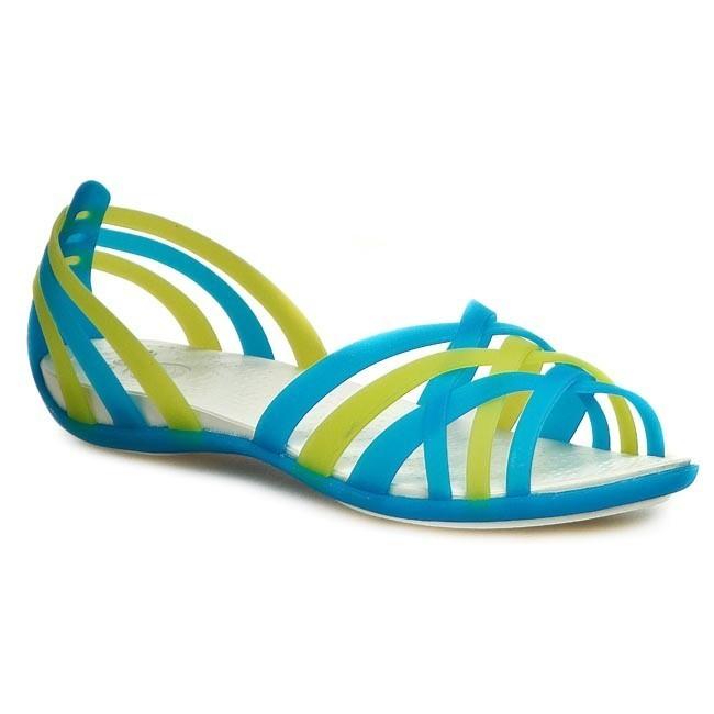 08705af07b171 Sandals CROCS - Huarache Flat Women 14121 Ocean Oyster - Casual ...