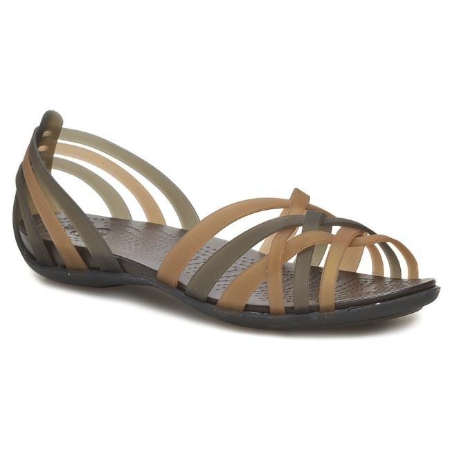 47c88538f74b1 Sandals CROCS - Huarache Flat 14121 Bronze/Espresso - Casual sandals ...