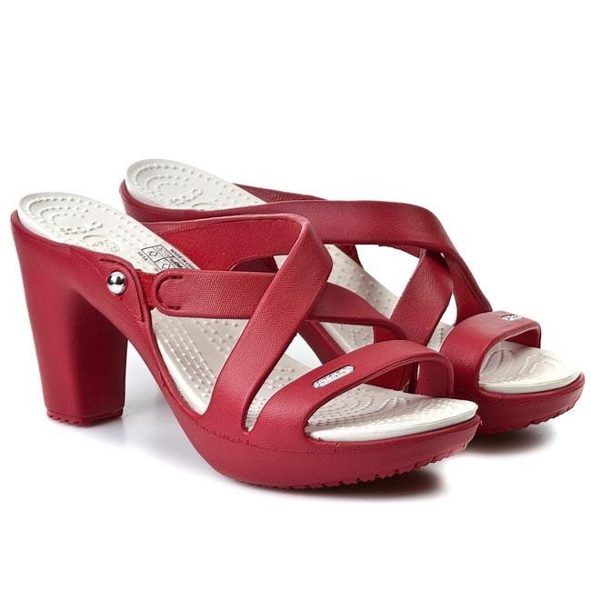 d530a86a904 Slides CROCS - Cyprus IV Heel W 14558 Dark Red/Oyster