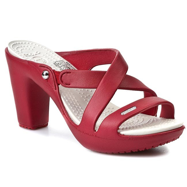 b335d40bb2 Slides CROCS - Cyprus IV Heel W 14558 Dark Red/Oyster - Casual ...