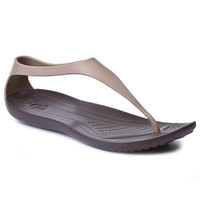 försäljning med lågt pris detaljerad look stor rabatt Slides CROCS - Sexi Flip Women 11354 Bronze/Espresso - Casual ...