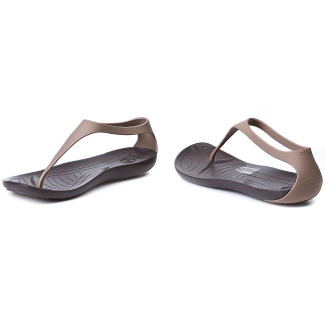 1ea8292908386 Slides CROCS - Sexi Flip Women 11354 Bronze Espresso - Casual ...