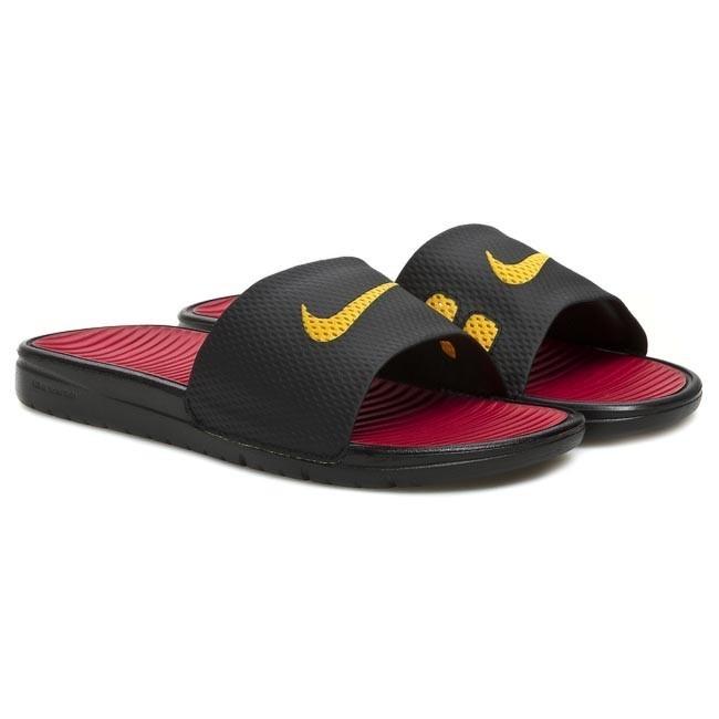 0d59fb38840c76 Slides NIKE - Benassi Solarsoft Soccer 576427 076 Black University Gold  Gym  Red - Clogs and mules - Mules and sandals - Men s shoes - www.efootwear.eu