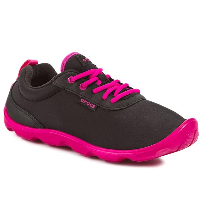 e80cb3a2c055 Shoes CROCS - Duet Busy Day Lace-Up 15500 Black Candy Pink - Flats ...