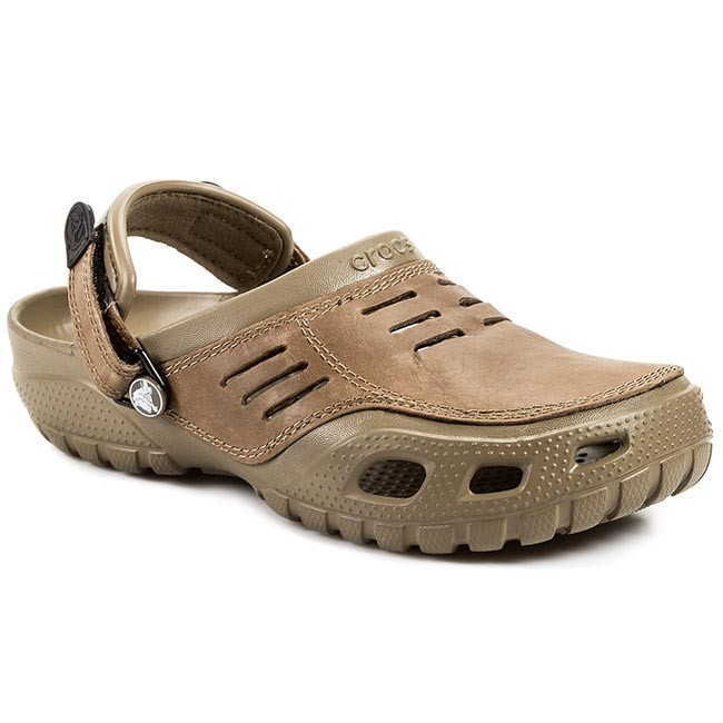 e17ffdc32b4a3 Slides CROCS - Yukon Sport 10931 Khaki/Coffe - Clogs and mules - Mules and  sandals - Men's shoes - efootwear.eu