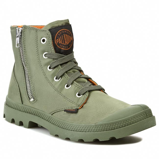 Hiking Boots PALLADIUM - Pampa Hi Zip Ma-1 03233378 Sage/Orange