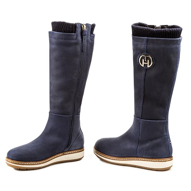 Knee High Boots TOMMY HILFIGER - Wooli 1NW FW56817667 Midnight 403 ... 40731c771f1