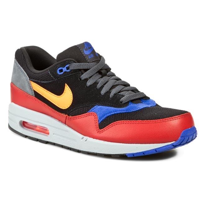 0e884f0c4e3398 Shoes NIKE - Air Max 1 Essential 537383 017 Black Hyper Crimson Red Clay
