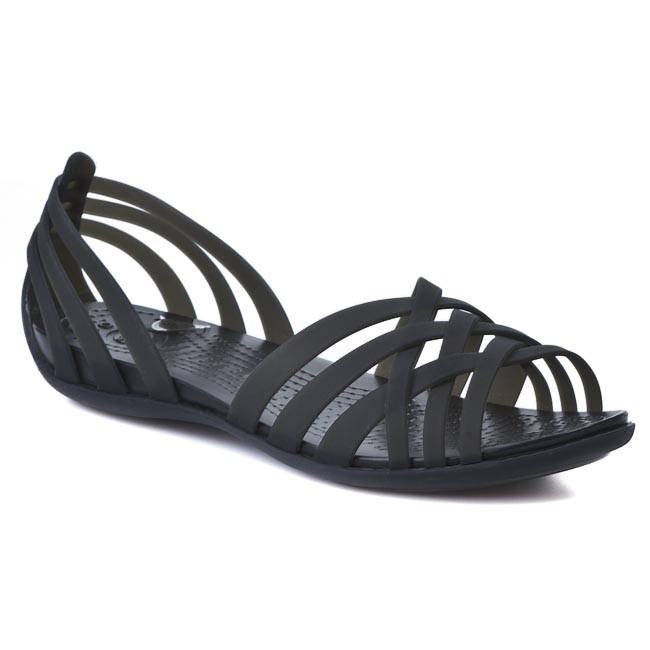 09cf00c81d13 Sandals CROCS - Huarache Flat Women 14121 Black - Casual sandals ...
