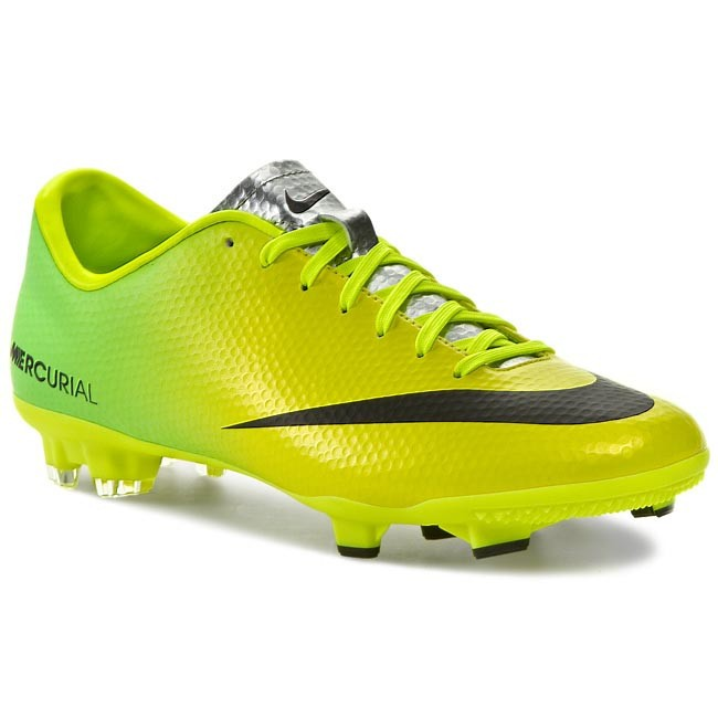 14725798a Shoes NIKE. Mercurial Victory IV Fg 555613 703 Vibrant Yellow Black Neo Lime