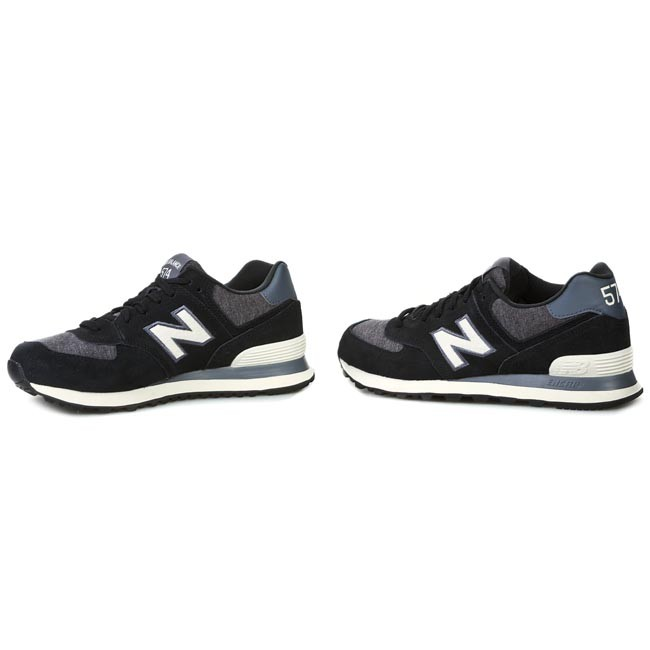 new balance ml574 pnw noir blanc