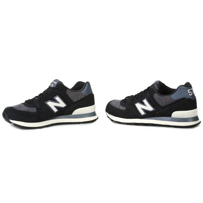 new balance ml574 pnw noir blanc