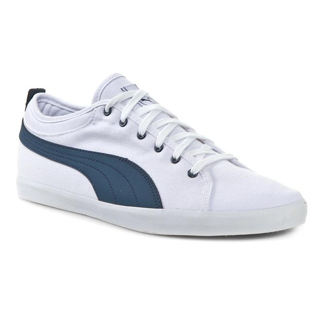 667966438cfd4b Shoes PUMA - Elsu Bluchertoe Canvas 356213 01 White Dark Denim ...