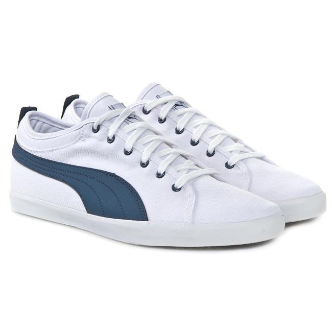 a11a9ae6abdeb7 Shoes PUMA - Elsu Bluchertoe Canvas 356213 01 White Dark Denim - Casual - Low  shoes - Men s shoes - www.efootwear.eu