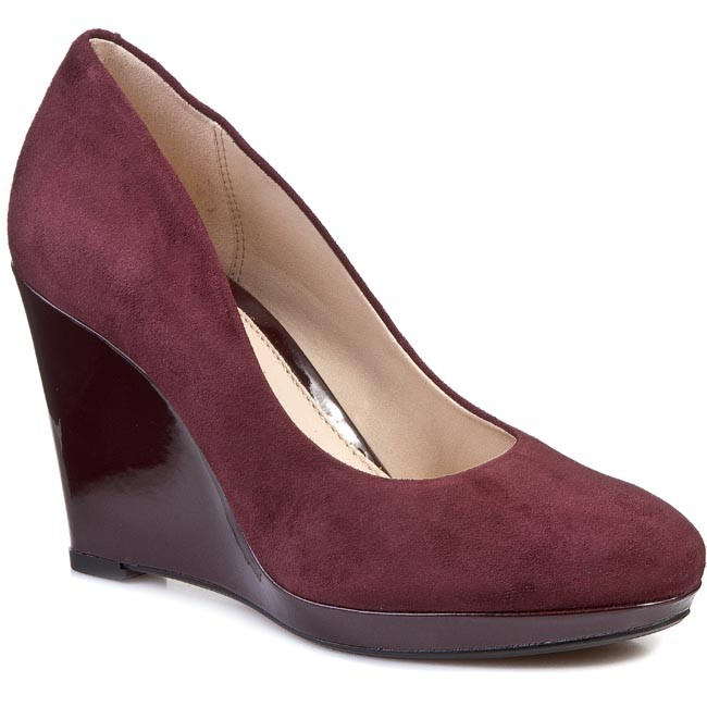 33f65ea9215 Wedges CLARKS - Comet Trail 261039874 Ox-Blood - Wedge-heeled shoes ...