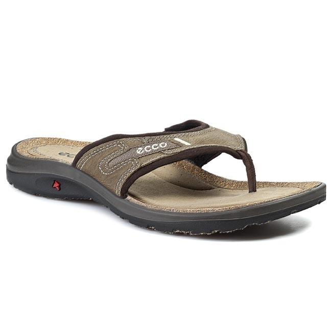 120fd678823b12 Slides ECCO - Costa Waikiki Thong 83103457728 Warm Grey Licorice ...