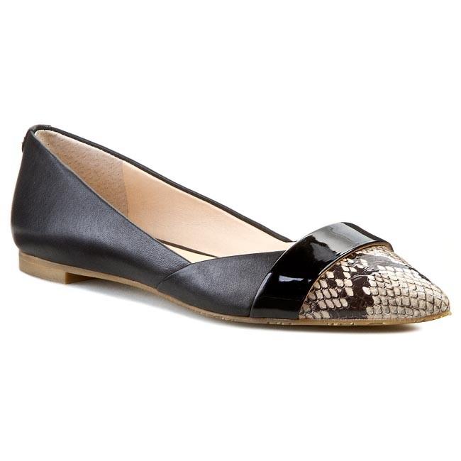 Flats GUESS - Sha2 FL1SH2 LEA02 BLACK - Ballerina shoes - Low shoes ... 3001417fca