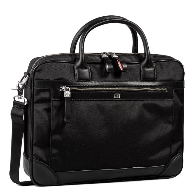 af3ca828aea5f Laptop Bag TOMMY HILFIGER - Felix Computer Bag BM56924689 Black 990 ...