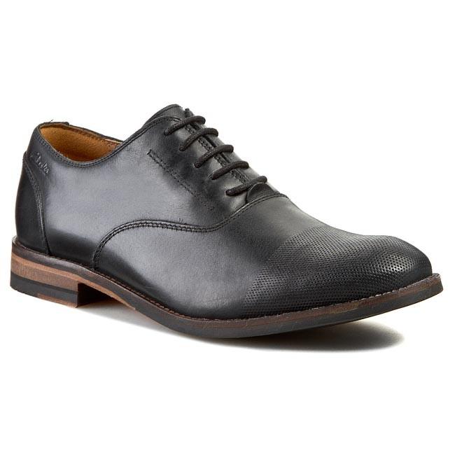 Clarks Exton Oak Leather Business Shoes  Black  Mens Formal Shoes